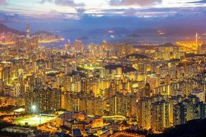 skyline di Hong Kong kowloon foto