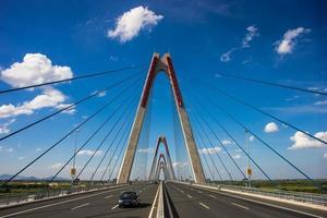 sull'autostrada - stock di paesaggi urbani di Hanoi foto