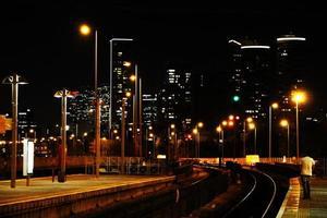skyline notturno foto