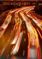 traffico di Ayalon di notte