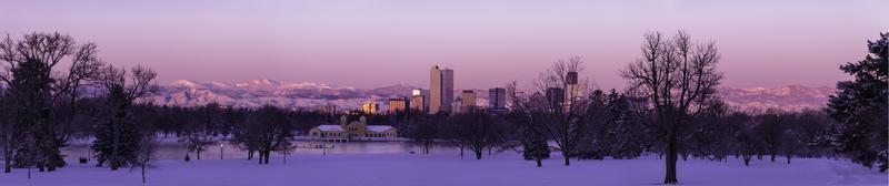 panorama di denver colorado skyline foto