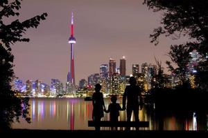 romantica vista sullo skyline di toronto foto