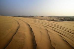 duna di sabbia bianca foto