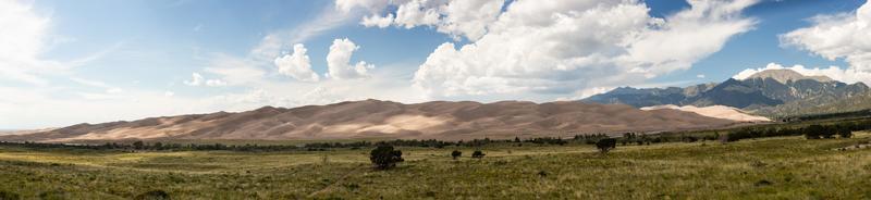panorama di grandi dune di sabbia np foto