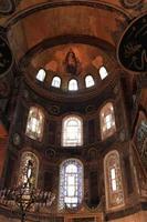 interno di hagia sophia foto