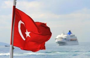 bandiera della Turchia foto