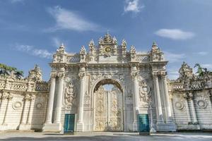 cancello del sultano, palazzo dolmabahce, istanbul, turchia foto