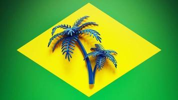 bandiera del Brasile foto