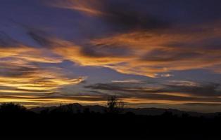 tramonto della California foto