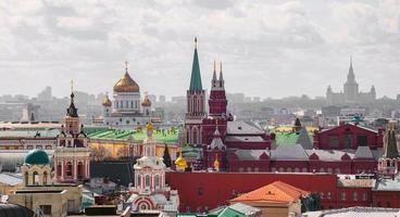 Mosca. vista dall'alto foto