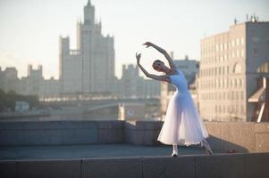 ballerina e paesaggio urbano di Mosca