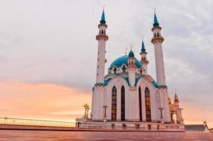 "Moschea ""Kul Sharif"" nel Cremlino di Kazan, Tatarstan, Russia foto"