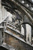 dettaglio cattedrale di milano foto