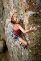 arrampicatore femminile