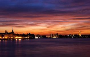 Dordrecht dopo il tramonto foto