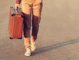 viaggiatore in viaggio foto