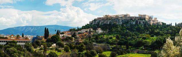 panoramica di acropoli di atene, grecia