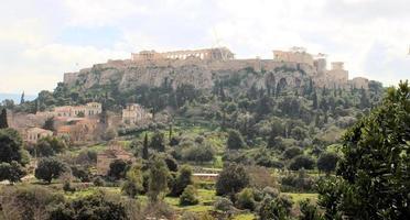 acropolis hill- atene foto