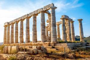 tempio di poseidon in grecia foto