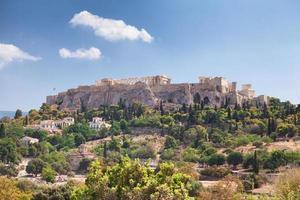 partenone sull'acropoli di atene, grecia foto