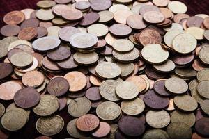soldi: monete in euro foto