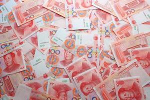 fondali di denaro cinese foto