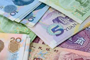 banconote yuan cinesi (renminbi) per conce di denaro e affari