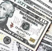 noi. sfondo di banconote da un dollaro foto