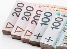 pila di soldi polacchi foto