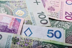 sfondo di denaro polacco foto
