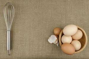 uova di gallina fatte in casa.