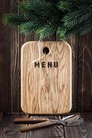 scheda menu