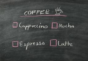 menu del caffè foto
