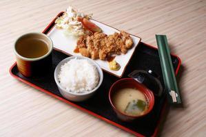 menu fisso di pollo katsu