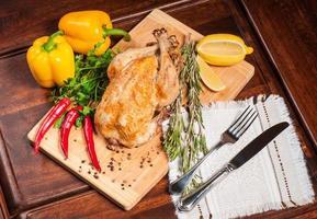 pollo piccante fritto foto