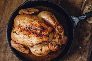 pollo in padella foto