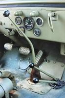 il veicolo vintage di jeep truck di Willie foto