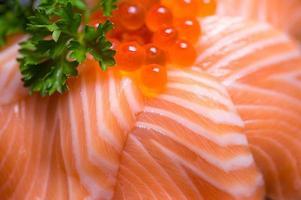 sushi, stile di cibo giapponese. foto