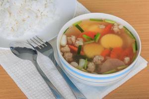 zuppa di tofu foto