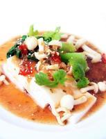 tofu cinese con salsa xo foto