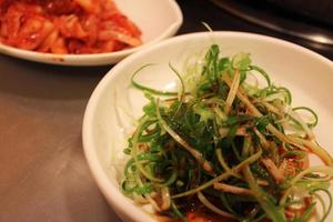 kimchi di cipolle verdi foto
