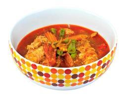 Alimento tailandese del curry del gamberetto foto