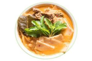 manzo al curry rosso con germogli di bambù foto