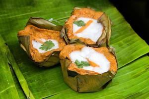 cibo preferito tailandese di pesce al curry piccante foto