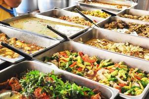 autentica cucina tailandese di strada, thailandia foto