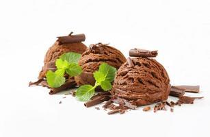 gelato al cioccolato foto