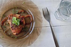 pollo cotto in forno foto