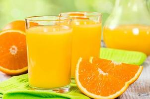 succo d'arancia fresco foto