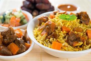 delizioso riso arabo foto
