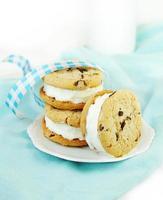 biscotti al cioccolato e sandwich al gelato